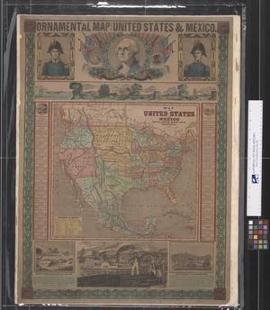 Primary view of object titled 'Ornamental Map of the United States and Mexico, 1848'.