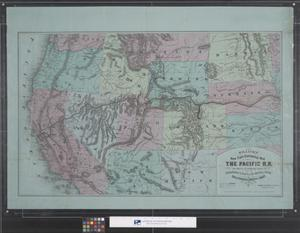 Primary view of object titled 'Williams' New Trans-Continental Map of the Pacific RR and Routes of Overland Travel'.