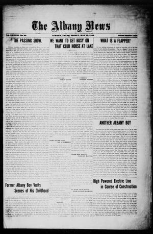 Primary view of object titled 'The Albany News (Albany, Tex.), Vol. 38, No. 45, Ed. 1 Friday, May 12, 1922'.