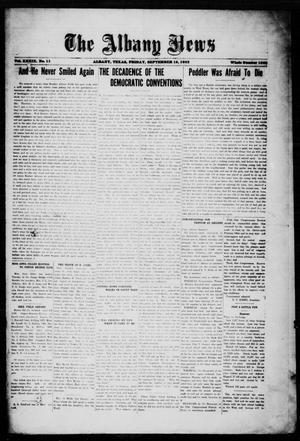 Primary view of object titled 'The Albany News (Albany, Tex.), Vol. 39, No. 11, Ed. 1 Friday, September 15, 1922'.