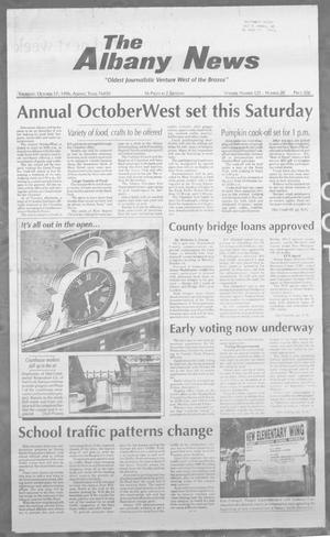 Primary view of object titled 'The Albany News (Albany, Tex.), Vol. 121, No. 20, Ed. 1 Thursday, October 17, 1996'.