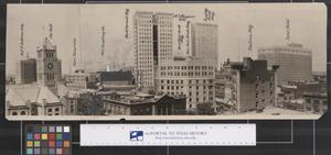 Primary view of object titled 'Ft. Worth Cityscape, 1920s'.