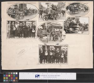 Primary view of object titled 'Collage of Men and Vehicles in Ft. Worth, Texas, 1920s'.