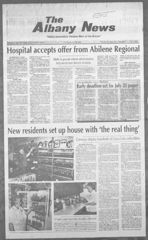 Primary view of object titled 'The Albany News (Albany, Tex.), Vol. 121, No. 7, Ed. 1 Thursday, July 18, 1996'.