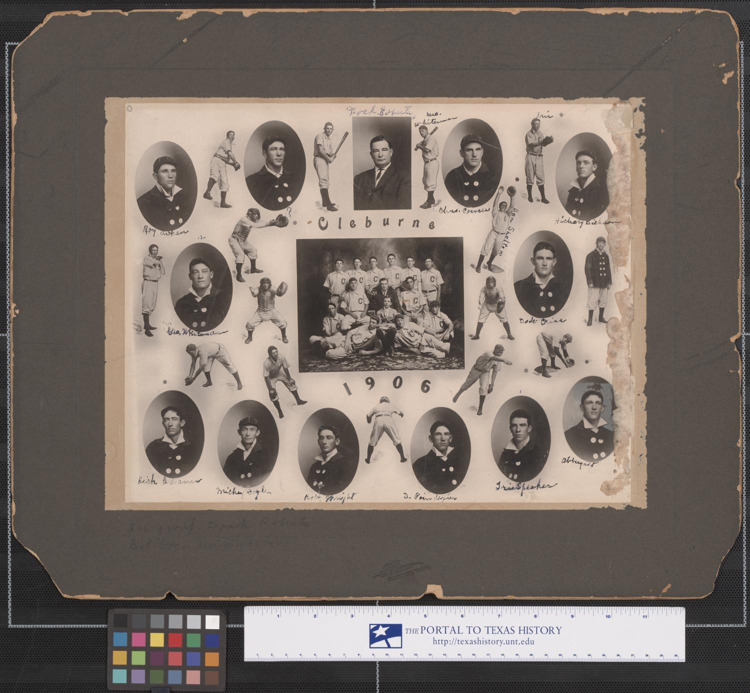 Cleburne, Texas Baseball Players, 1906                                                                                                      [Sequence #]: 1 of 1