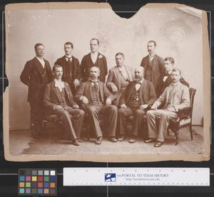 Primary view of object titled 'Employees of First National Bank of Fort Worth, Texas, 1893'.