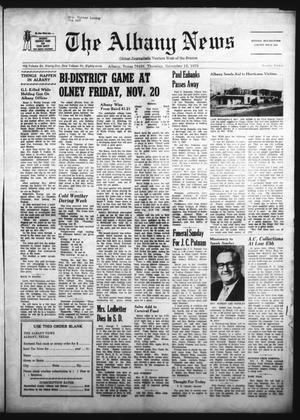 Primary view of object titled 'The Albany News (Albany, Tex.), Vol. 87, No. 12, Ed. 1 Thursday, November 12, 1970'.