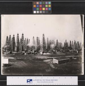 Primary view of object titled 'Oil Field in Beaumont, Texas, 1901'.