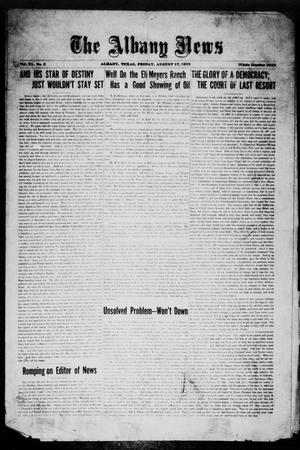 Primary view of object titled 'The Albany News (Albany, Tex.), Vol. 40, No. 6, Ed. 1 Friday, August 17, 1923'.