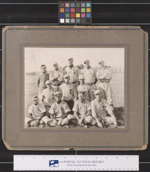 Primary view of object titled 'Fort Worth High School Baseball Players, 1912'.