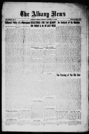 Primary view of object titled 'The Albany News (Albany, Tex.), Vol. 39, No. 6, Ed. 1 Friday, August 11, 1922'.