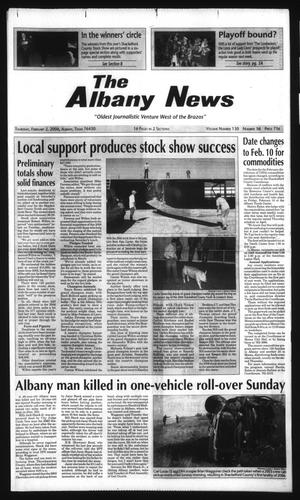 Primary view of object titled 'The Albany News (Albany, Tex.), Vol. 130, No. 36, Ed. 1 Thursday, February 2, 2006'.