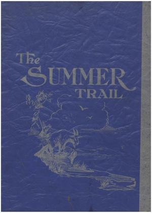 Primary view of object titled 'The Trail, Yearbook of Daniel Baker College, 1938, Summer'.