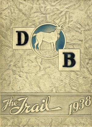 Primary view of object titled 'The Trail, Yearbook of Daniel Baker College, 1938'.