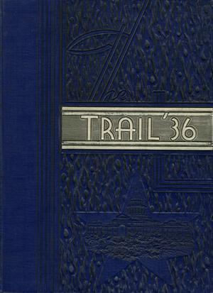 Primary view of object titled 'The Trail, Yearbook of Daniel Baker College, 1936'.