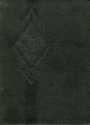 Primary view of object titled 'The Trail, Yearbook of Daniel Baker College, 1934'.