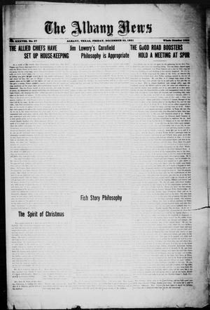Primary view of object titled 'The Albany News (Albany, Tex.), Vol. 38, No. 27, Ed. 1 Friday, December 23, 1921'.