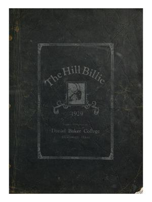 Primary view of The Hill Billie, Yearbook of Daniel Baker College, 1929