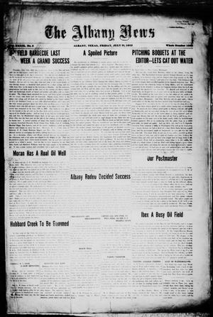 Primary view of object titled 'The Albany News (Albany, Tex.), Vol. 39, No. 3, Ed. 1 Friday, July 21, 1922'.