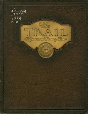 Primary view of object titled 'The Trail, Yearbook of Daniel Baker College, 1924'.