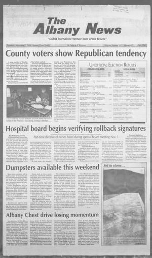 Primary view of object titled 'The Albany News (Albany, Tex.), Vol. 121, No. 23, Ed. 1 Thursday, November 7, 1996'.