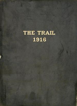 Primary view of object titled 'The Trail, Yearbook of Daniel Baker College, 1916'.