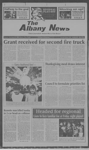 Primary view of object titled 'The Albany News (Albany, Tex.), Vol. 129, No. 26, Ed. 1 Thursday, November 25, 2004'.