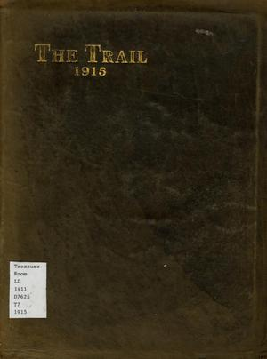 Primary view of object titled 'The Trail, Yearbook of Daniel Baker College, 1915'.