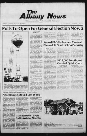 Primary view of object titled 'The Albany News (Albany, Tex.), Vol. 107, No. 19, Ed. 1 Thursday, October 28, 1982'.