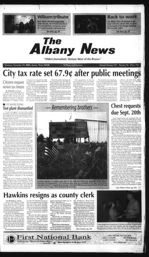Primary view of object titled 'The Albany News (Albany, Tex.), Vol. 131, No. 16, Ed. 1 Thursday, September 14, 2006'.