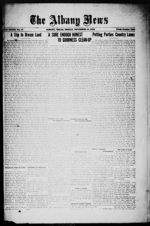 Primary view of object titled 'The Albany News (Albany, Tex.), Vol. 39, No. 19, Ed. 1 Friday, November 10, 1922'.