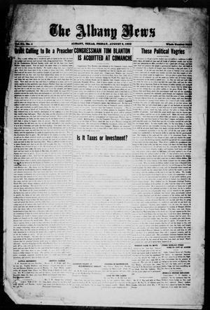Primary view of object titled 'The Albany News (Albany, Tex.), Vol. 40, No. 4, Ed. 1 Friday, August 3, 1923'.