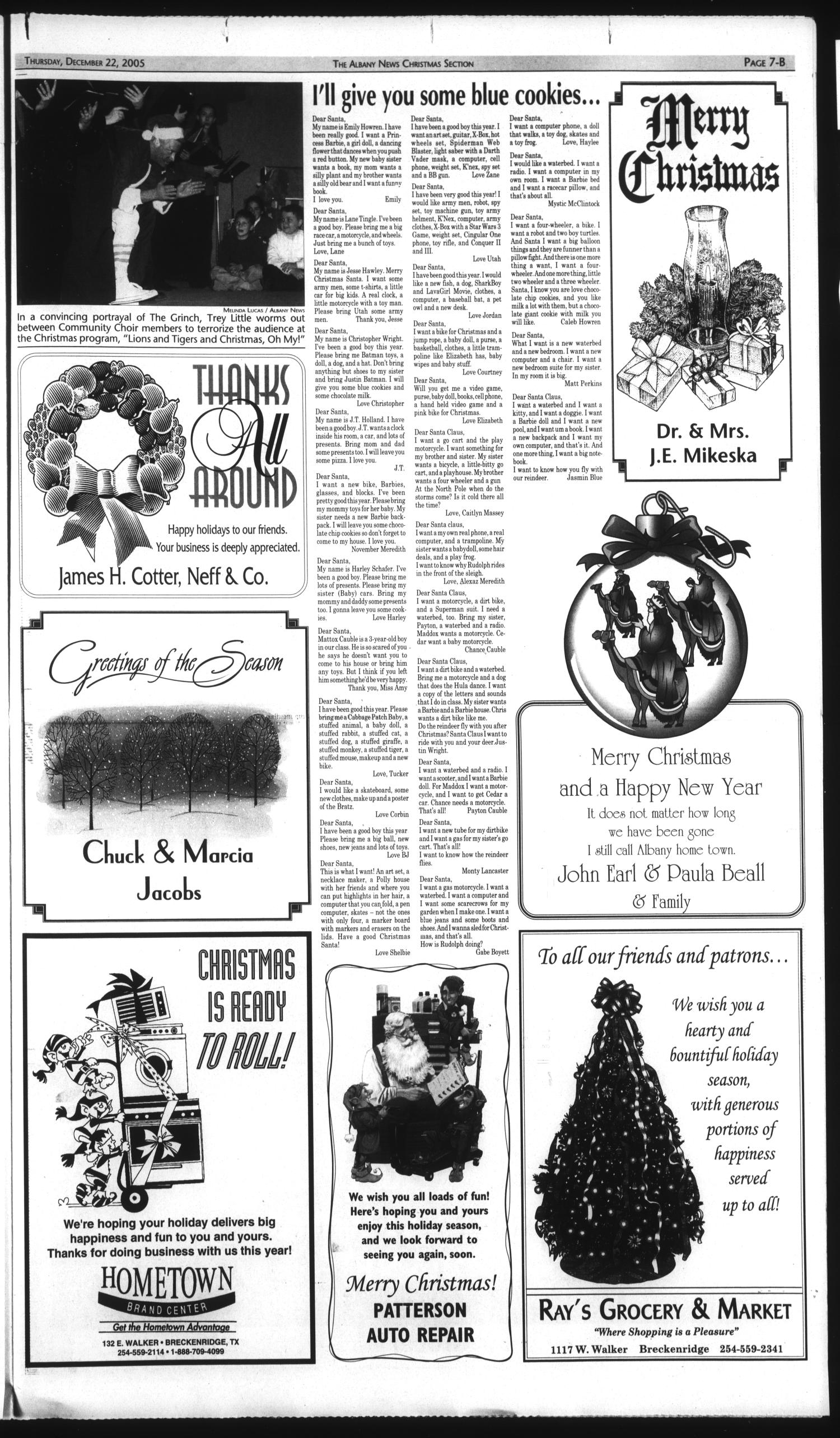 The Albany News (Albany, Tex.), Vol. 130, No. 30, Ed. 1 Thursday, December 22, 2005                                                                                                      [Sequence #]: 19 of 26