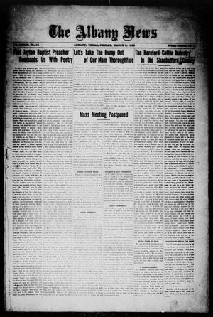 Primary view of object titled 'The Albany News (Albany, Tex.), Vol. 39, No. 34, Ed. 1 Friday, March 2, 1923'.