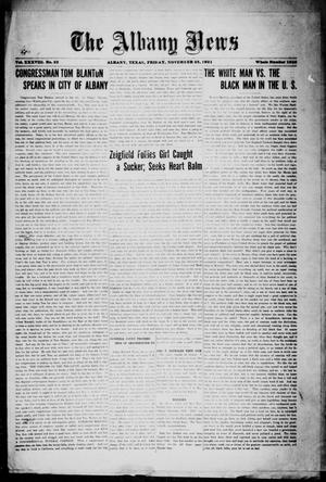 Primary view of object titled 'The Albany News (Albany, Tex.), Vol. 38, No. 23, Ed. 1 Friday, November 25, 1921'.