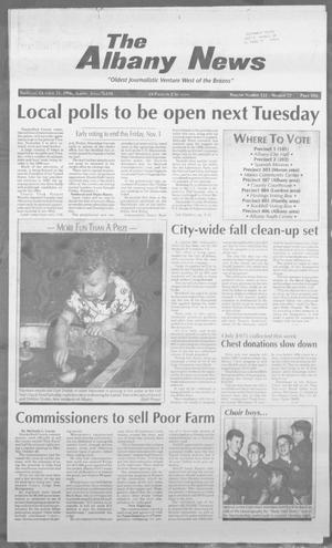 Primary view of object titled 'The Albany News (Albany, Tex.), Vol. 121, No. 22, Ed. 1 Thursday, October 31, 1996'.