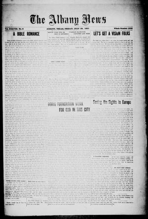 Primary view of object titled 'The Albany News (Albany, Tex.), Vol. 38, No. 6, Ed. 1 Friday, July 29, 1921'.