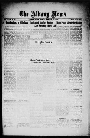 Primary view of object titled 'The Albany News (Albany, Tex.), Vol. 39, No. 33, Ed. 1 Friday, February 23, 1923'.