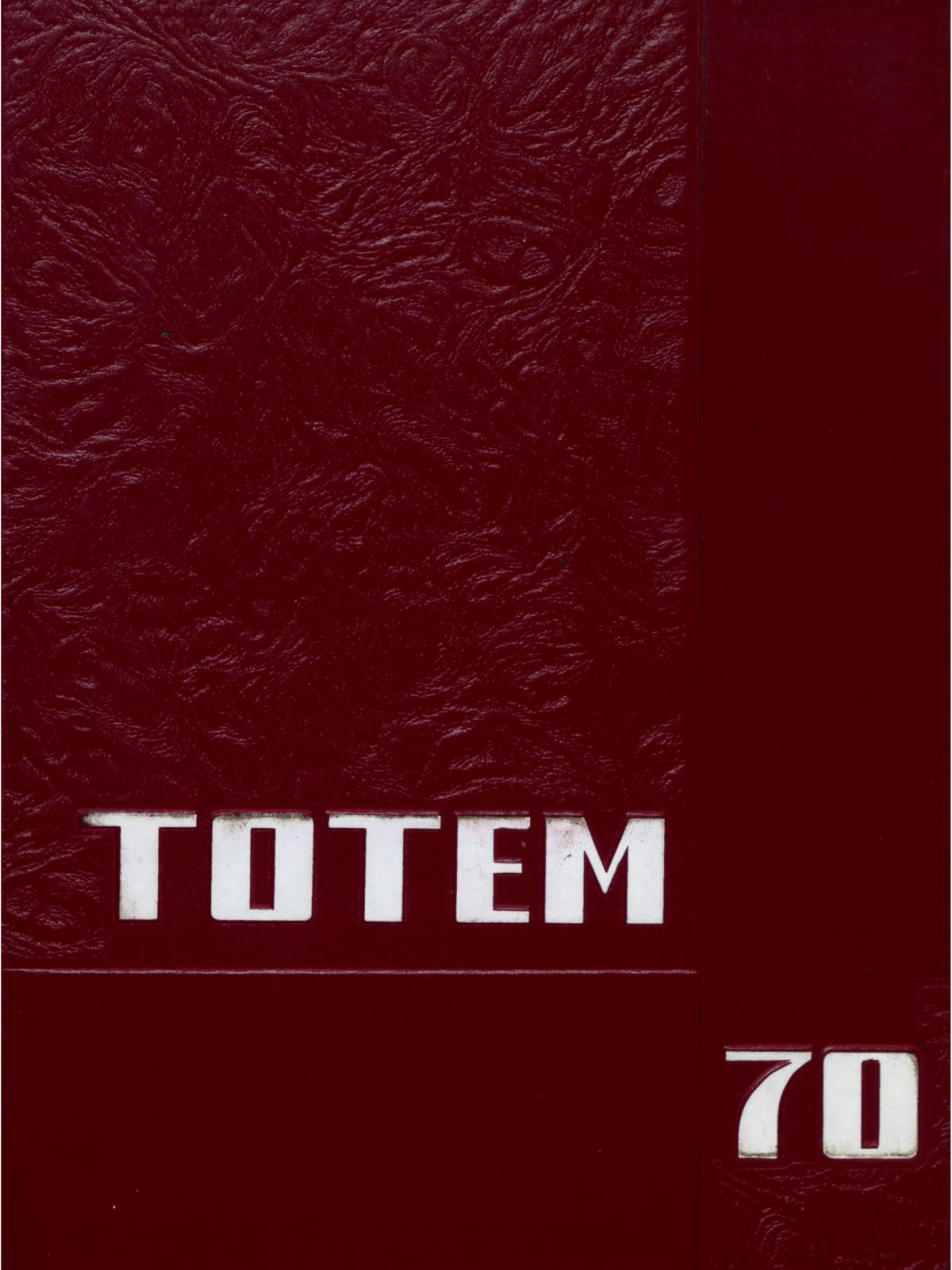 The Totem, Yearbook of McMurry College, 1970                                                                                                      Front Cover
