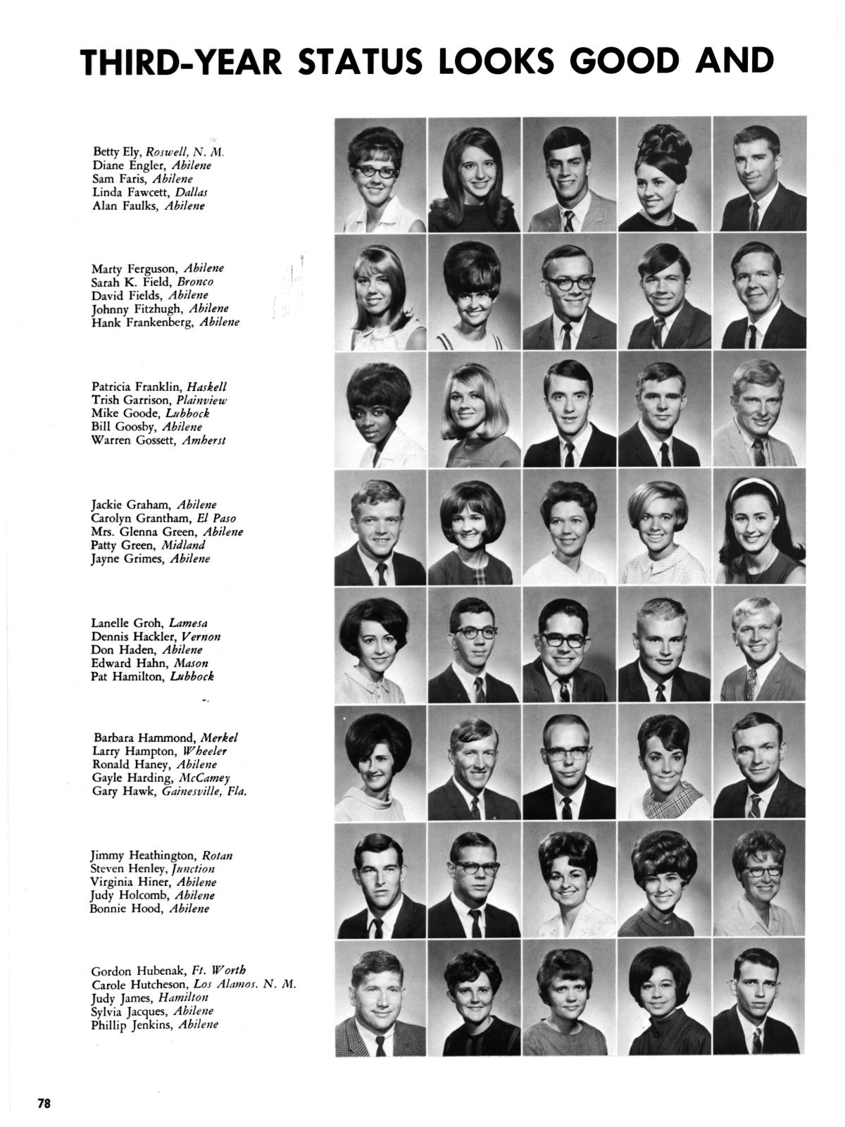 The Totem, Yearbook of McMurry College, 1968 - Page 78 - The