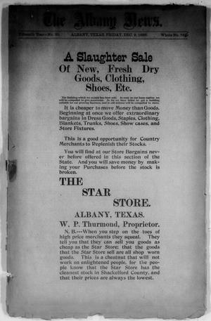 Primary view of object titled 'The Albany News. (Albany, Tex.), Vol. 15, No. 33, Ed. 1 Friday, December 9, 1898'.