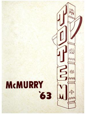 Primary view of object titled 'The Totem, Yearbook of McMurry College, 1963'.