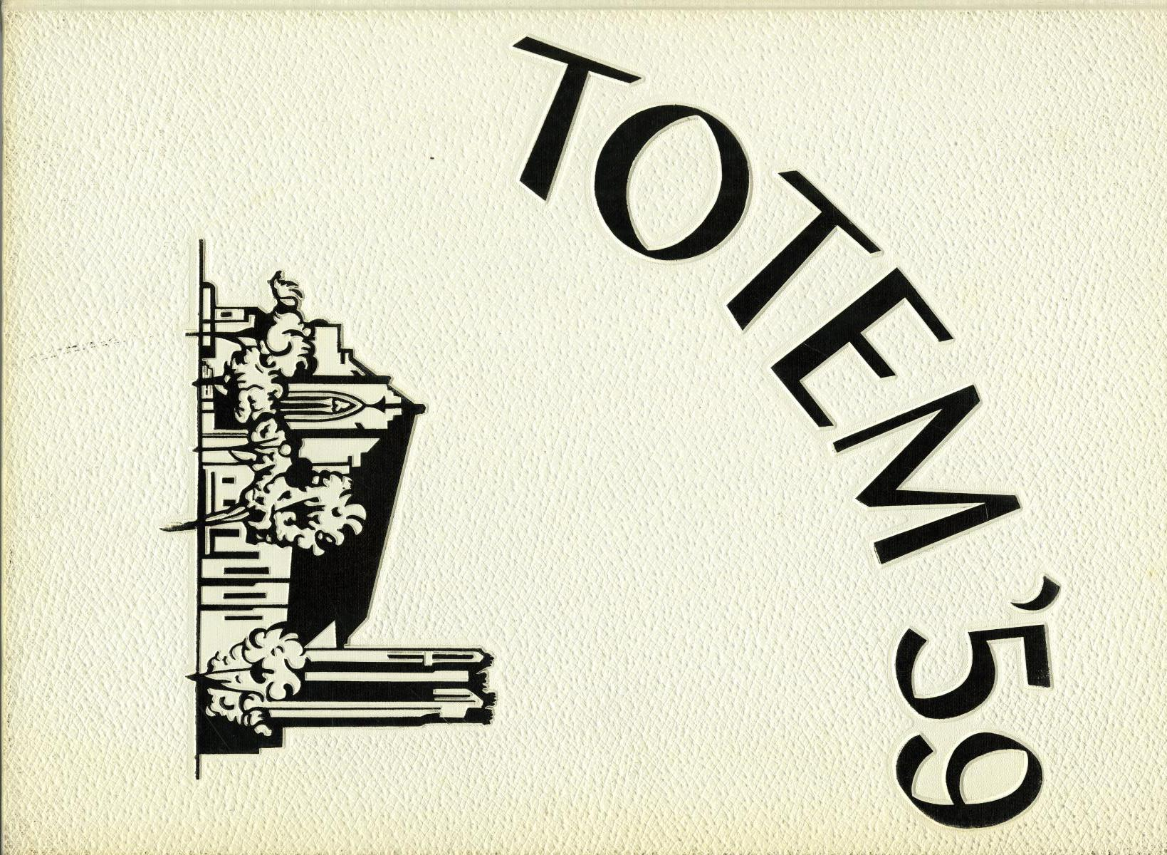 The Totem, Yearbook of McMurry College, 1959                                                                                                      Front Cover