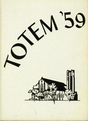 Primary view of object titled 'The Totem, Yearbook of McMurry College, 1959'.