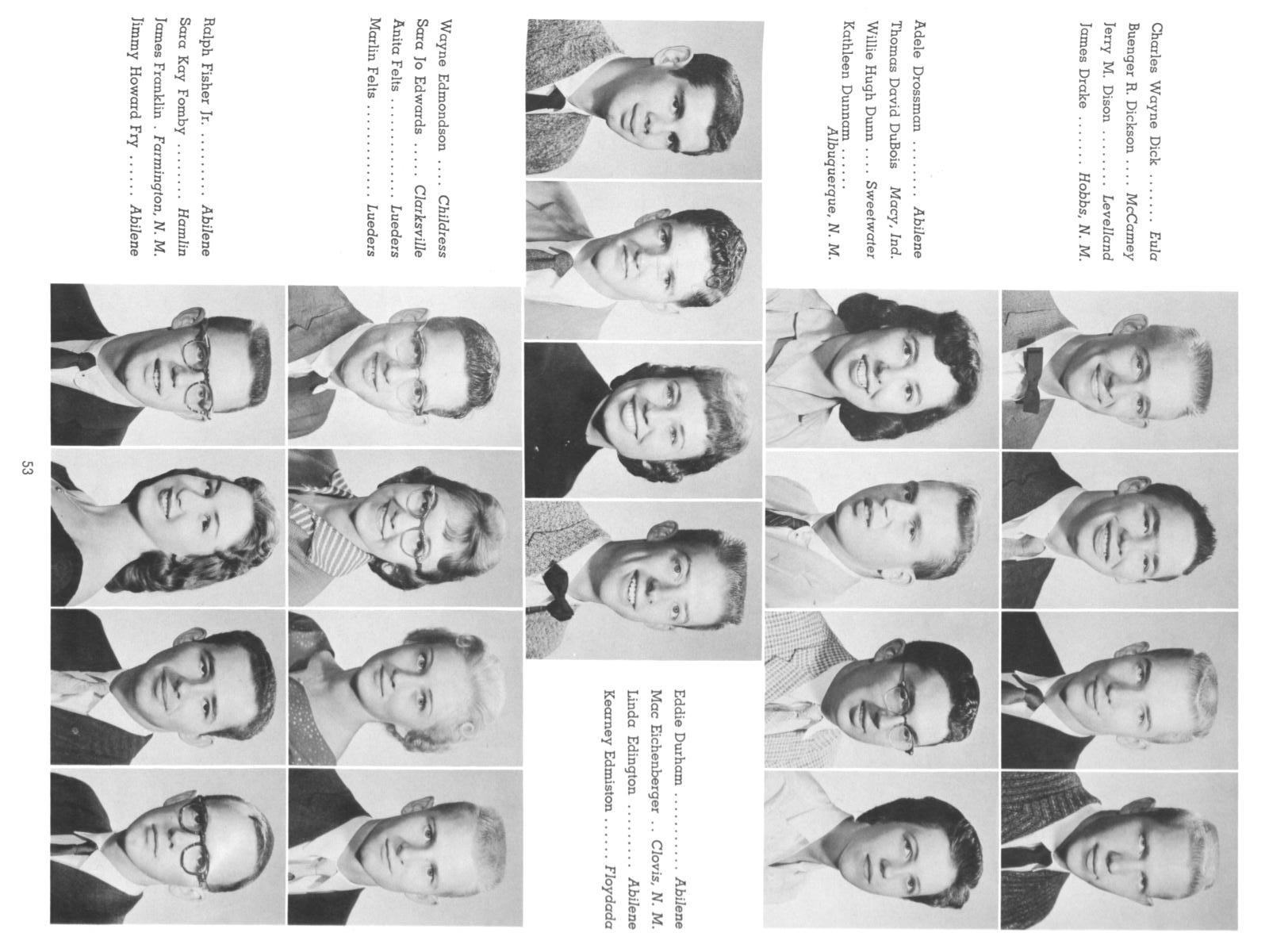 The Totem, Yearbook of McMurry College, 1959                                                                                                      53