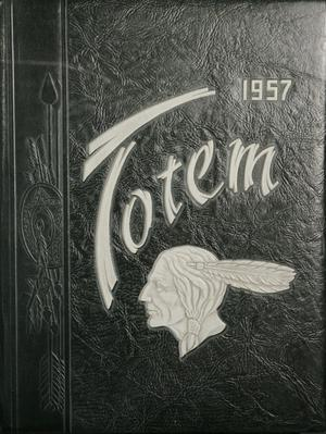 Primary view of object titled 'The Totem, Yearbook of McMurry College, 1957'.