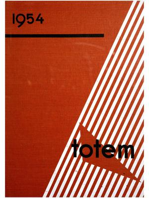 Primary view of object titled 'The Totem, Yearbook of McMurry College, 1954'.