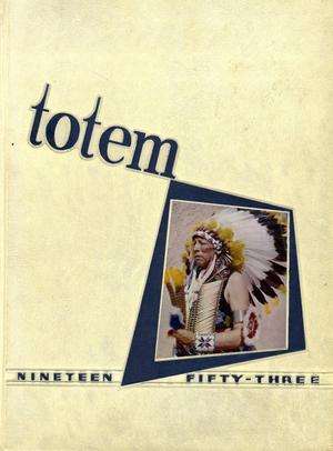 Primary view of object titled 'The Totem, Yearbook of McMurry College, 1953'.