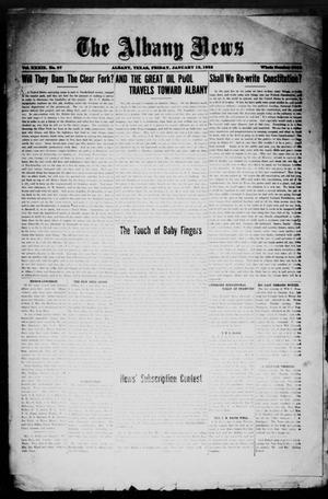 Primary view of object titled 'The Albany News (Albany, Tex.), Vol. 39, No. 27, Ed. 1 Friday, January 12, 1923'.