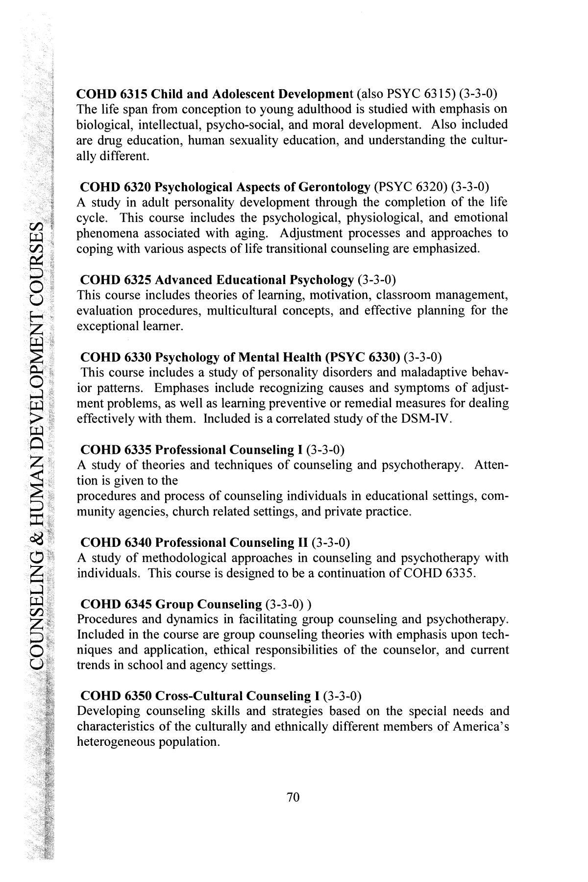 Catalog Of Hardin Simmons University 2003 2004 Graduate Bulletin